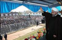 تصاویر نسیم جنوب از استقبال مردمی از دکتر روحانی در بوشهر