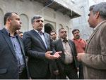 نارضایتی استاندار از روند ساخت دانشکده معماری و مرمت مدرسه تاریخی سعادت بوشهر