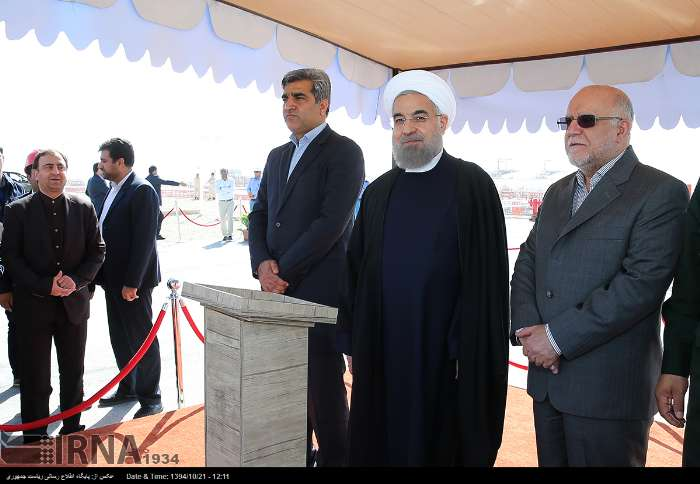 گزارش تصویری افتتاح فازهای 15 و 16 میدان گازی پارس جنوبی با حضور رئیس جمهوری