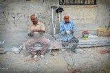 بافت مرغوبترین عبای دنیا/ تولیدمصنوعاتی زیبا از نخل و محصولات دریا در بوشهر +عکس