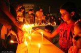 تصاویر سوگواری جوانان بوشهر برای سربازان وطن