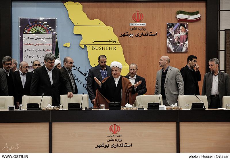 تصاویر دیدار آیت الله هاشمی رفسنجانی با فعالان اقتصادی - اجتماعی استان بوشهر